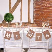 Just My Type Mr & Mrs Chair Bunting